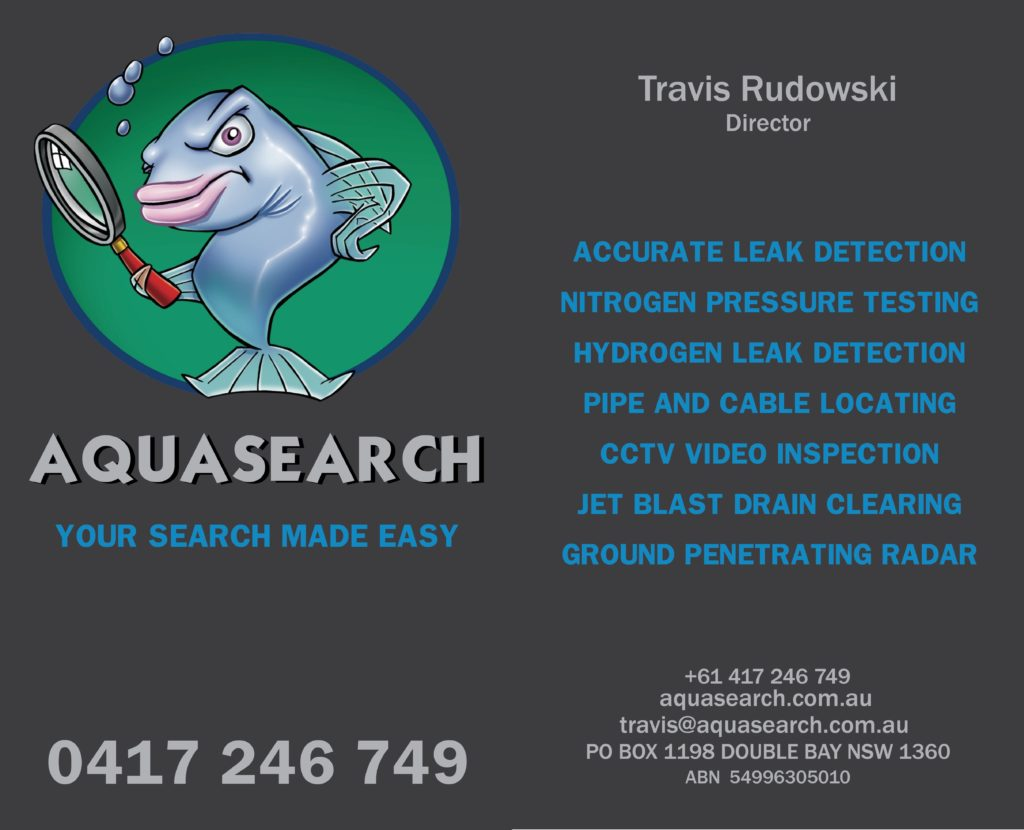 Aquasearch - accurate leak detection, nitrogen pressure testing, hydrogen leak detection, pipe and cable locating, cctv video inspection, jet blast drain clearing, ground penetrating radar
